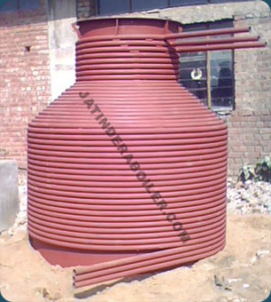 4 Pass Radiant Coil Type Boiler